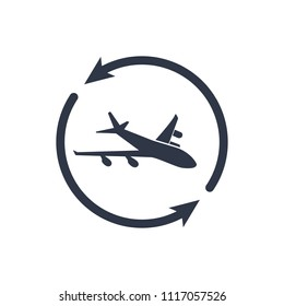 Airline services - Minimal modern icon. Vector illustration