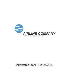 airlines logo template design, vector illustration