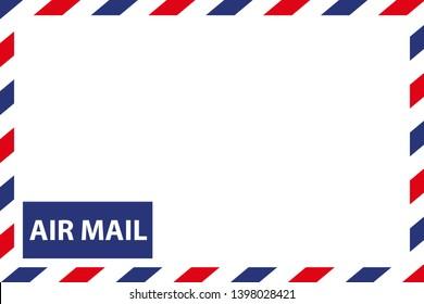 Airmail Envelope Border - Vector Illustration - Isolated On White Background
