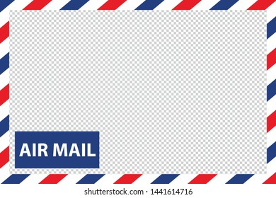 Airmail Envelope Border - Vector Illustration - Isolated On Transparent Background