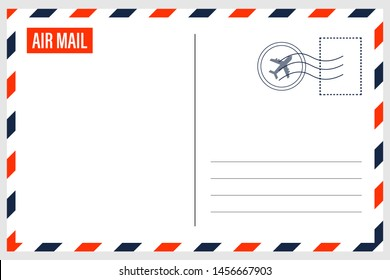 Airmail Envelope Border - Vector Illustration.