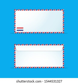 Airmail Sleek Envelope for Business, Hobby, Icon
