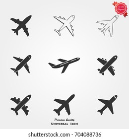 Airplan icons vector