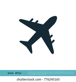 Airplane / Airport Icon Vector Logo Template