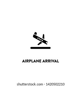 airplane arrival icon vector. airplane arrival sign on white background. airplane arrival icon for web and app