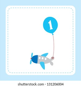 airplane with balloon