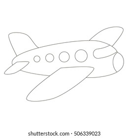 Airplane Contour Images Stock Photos Vectors Shutterstock
