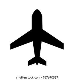 Airplane Black icon