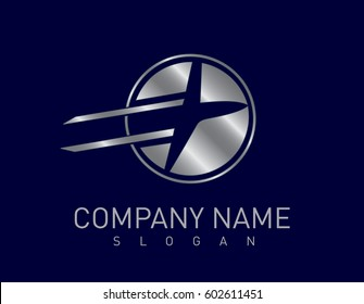airplane business design blue background