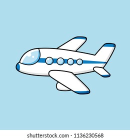 Airplane cartoon vector isolated