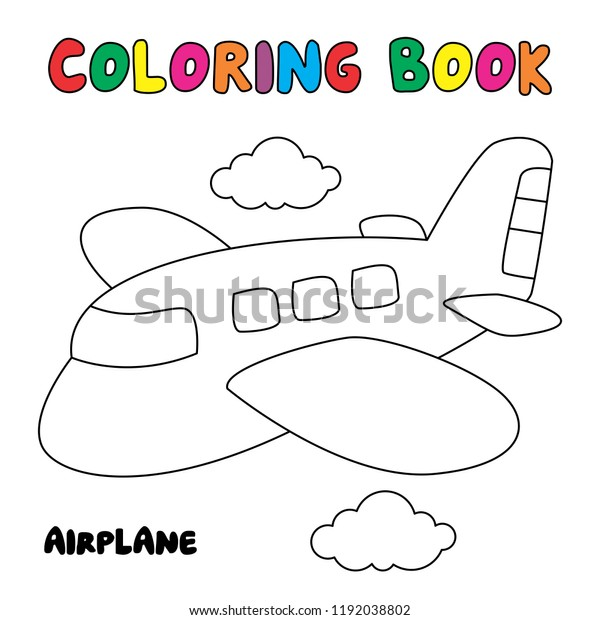 - Airplane Coloring Page Coloring Book Stock Vector (Royalty Free) 1192038802