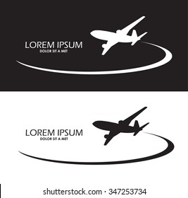 Airplane design black and white