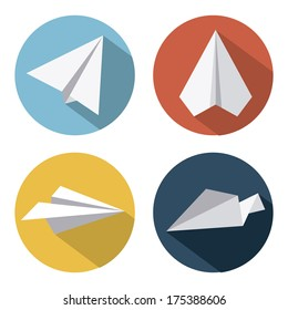 Airplane Design over  white background vector illustration