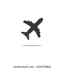 Airplane flight icon logo