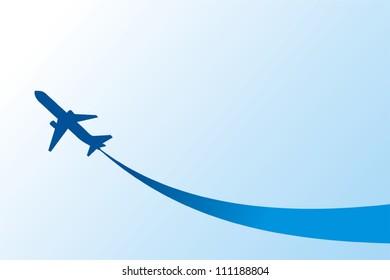 airplane flight tickets air fly cloud sky blue travel