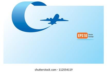 airplane flight tickets air fly cloud sky blue travel blank