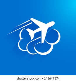 airplane flight tickets air fly travel takeoff cloud blue element