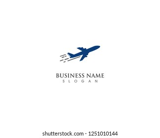 Airplane fly logo and symbol template