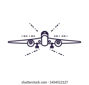 airplane flying vehicle isolated icon