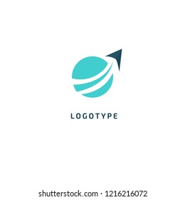 Airplane icon. Air ticket booking logo template. Logo concept of navigator, loukost, airport, booking tickets, travel application, tourism, trip.