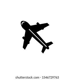 airplane icon design vector template