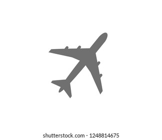 airplane icon flat symbol vector