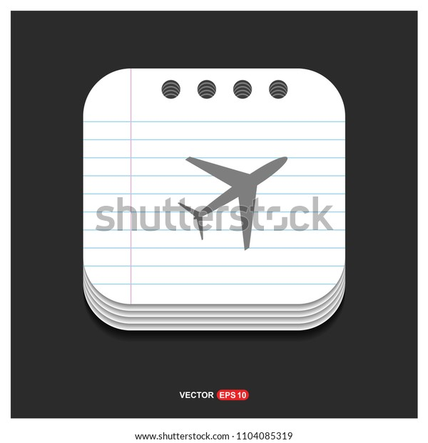 Airplane icon - free vector icon