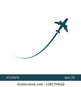 Airplane Icon Logo Template