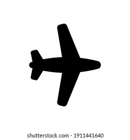 Airplane icon, plane logo line icons in black isolated on white background, fly symbol. Air sign, flight concept travel or airport illustration. For mobile app or design web site. Vector EPS 10