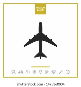 Airplane icon symbol. Graphic elements for your design