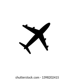 Airplane icon symbol on white background