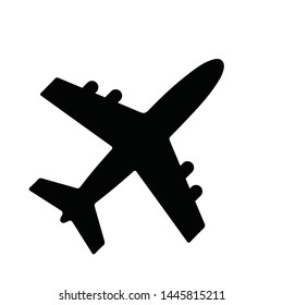airplane icon symbol vector. on white background