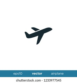 Airplane icon travel logo template