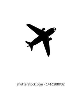 Airplane icon. Travel transport sign