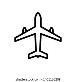 Airplane icon vector design template