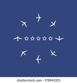 Airplane Icon Vector flat design style