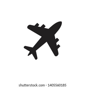 Airplane icon vector flat illustration