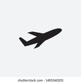 Airplane icon vector flat illustration