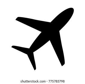 Airplane icon . Vector illustration