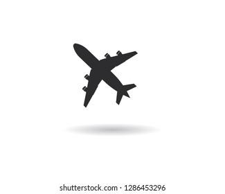 Airplane icon vector illustration design Logo Template - Vector