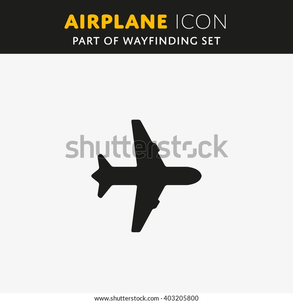 Airplane icon, vector illustration. Flat design style EPS.