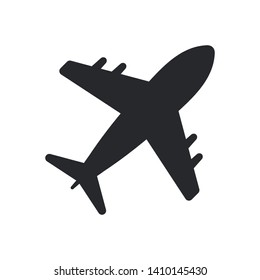 Airplane Icon Vector Transportation Logo Template, eps 10