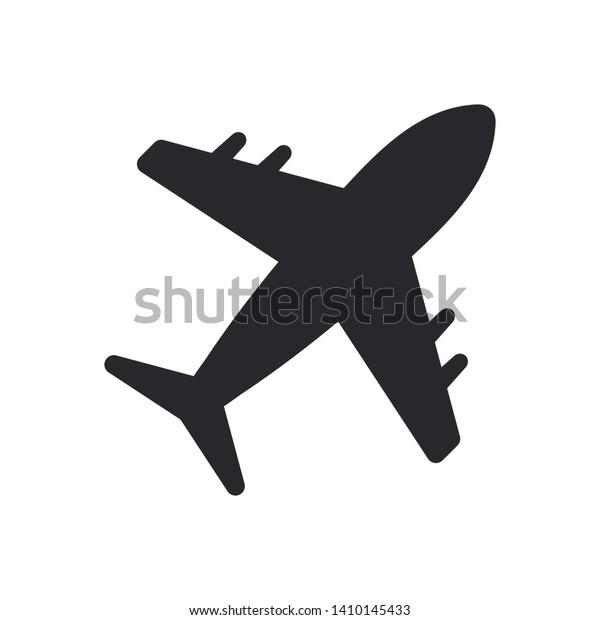 Airplane Icon Vector Transportation Logo Template Stock Vector