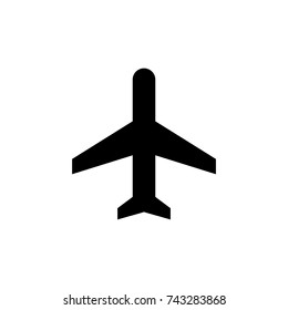 Airplane icon, Airplane icon vector, in trendy flat style isolated on white background. Airplane icon image, Airplane icon illustration