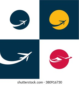 Airplane icons. Airlines. Plane