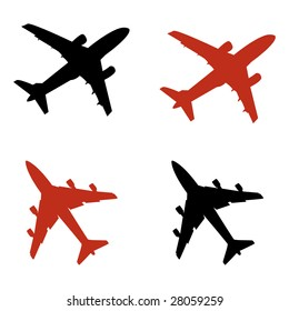 airplane icons in vector mode