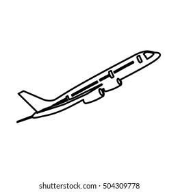 airplane isolated pictogram image