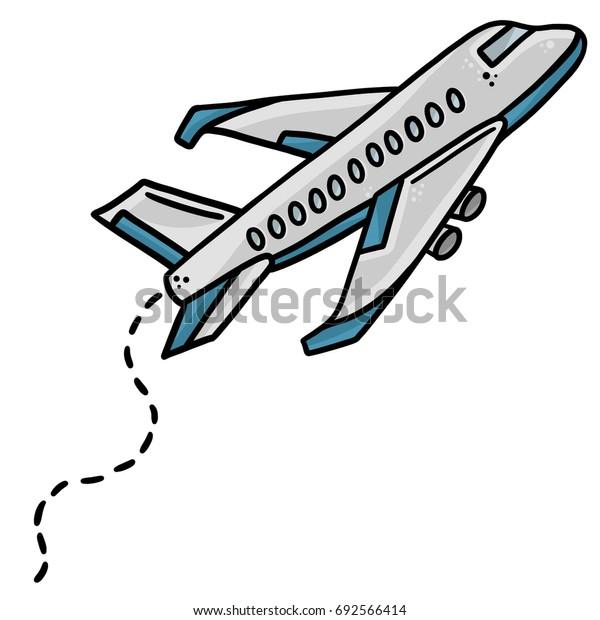 Airplane Line Art Vector Illustration Clip Art