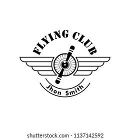 airplane logo vector