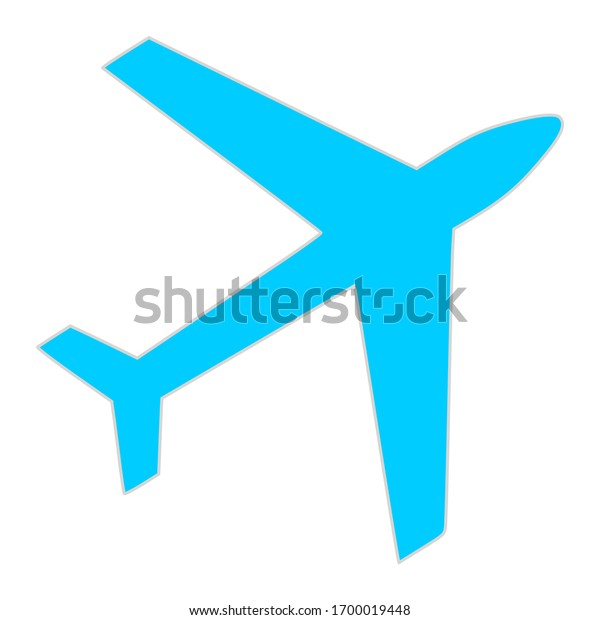 Airplane, Passenger plane vector for app and web